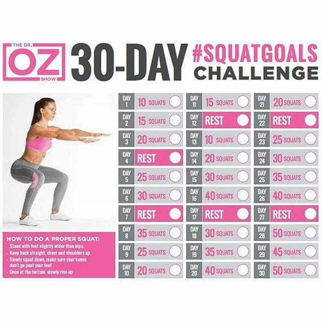 30 day # squat goals challenge | Health and Beauty | 30 ...