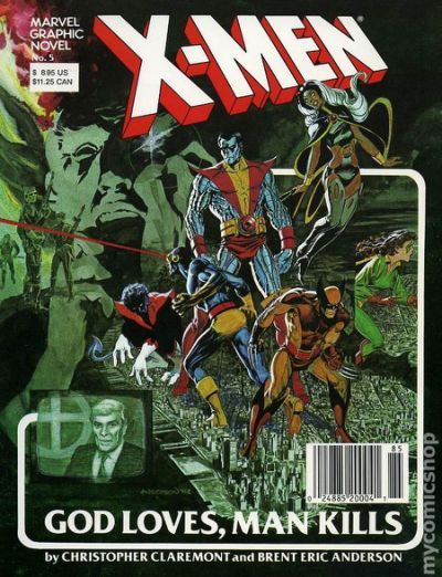 Graphic Novel X-Men. 1st app. of Rev. William Stryker
