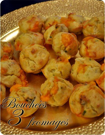 Bouchées apéro 3 fromages