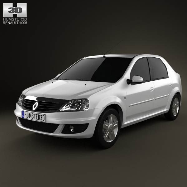 Renault Logan Sedan 2011 3d model from humster3d.com. Price: $75