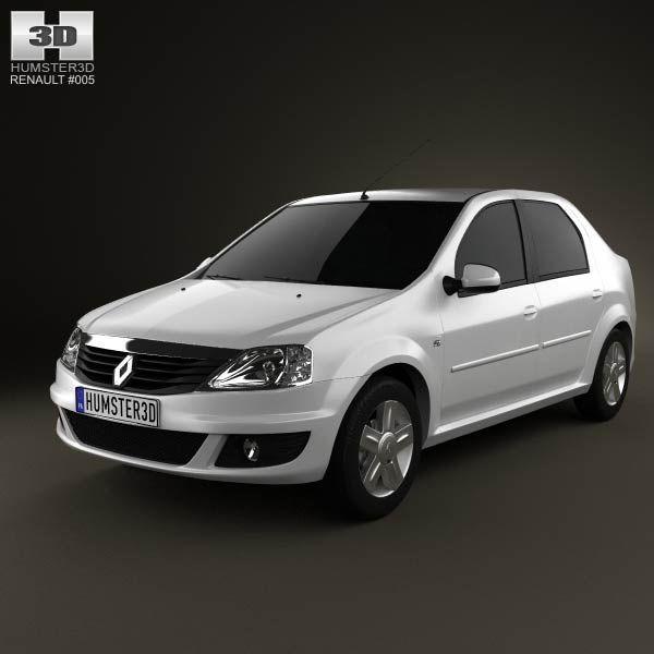 Renault Logan Sedan 2011 3d model from humster3d.com. Price: $75