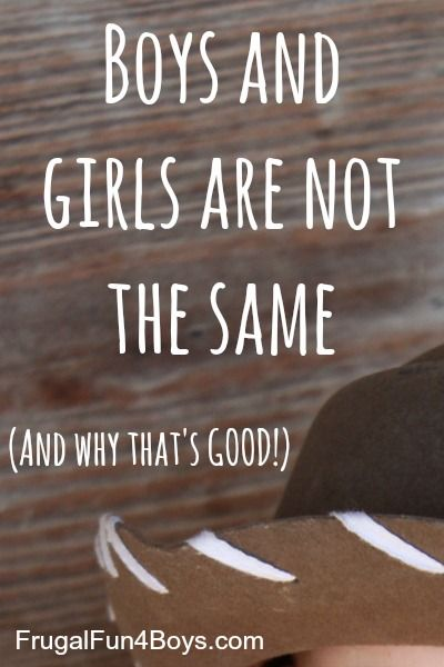 There's a push today to say that girls and boys are exactly the same other than how they are raised.  Here's why I don't agree with that...