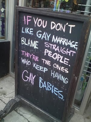 Yeah, straight people should raise their kids right and beat the shit out of them if they act  out with homosexual tendencies! And don't give me that homophobia bullcrap, I'm Christian not a homophobe! - Mindy