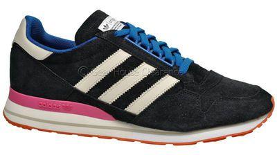 Adidas Originals ZX 500 OG Blue Mens Shoes ( NEW ) Black Suede Retro Throwback