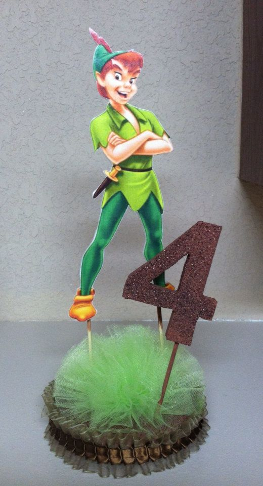 Double Sided Peter Pan Centerpiece With Base And Age