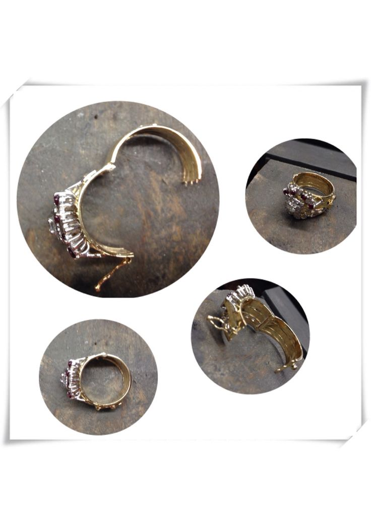 Hinged rings, for arthritis affected fingers and swollen or enlarged knuckles. Alterations on your own rings available through Macchia Jewellery, Horsham, Vic, on gold or silver rings, diamond or any stone set or patterned or plain ring.