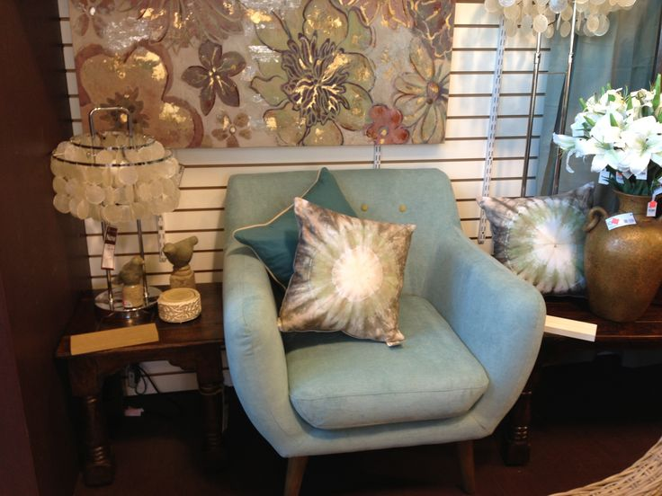 Our new Retro Chairs are in stores now! Pictured in blue for $335. www.wickeremporium.ca