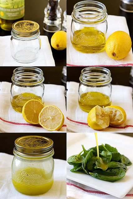 Lemony Dressing by handleheat, via Flickr    (Remember: 3 parts oil per one part acid like vinegar or lemon)