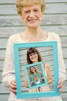 4 Generationen - alle vereint in einem Bild. Tolle Geschenk-Idee! ♥