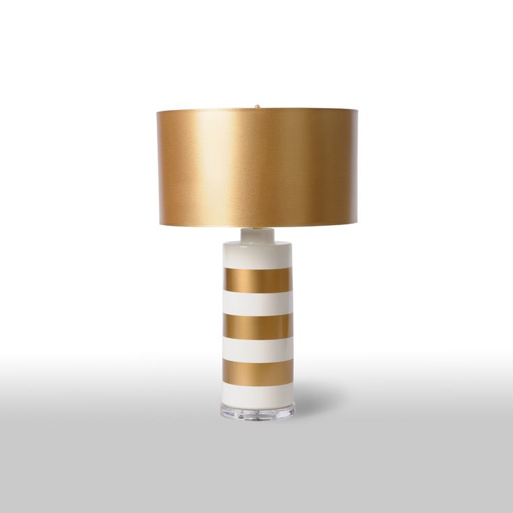 showcase elegance and in the jar with gold stripe table lamp adding subtle refinement to living rooms foyers and dining rooms - Lamp Shades For Table Lamps