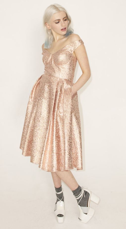 RILEY METALLIC PROM DRESS