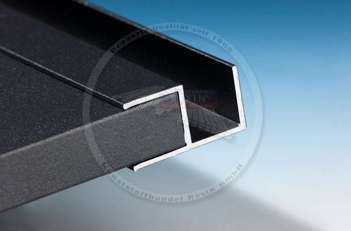 Inspirational Unsere Aluminium Profile U Profil F Profil H Profil Stuhl Profil und Eckprofil sind ab sofort auch in den Farben anthrazit und wei erh lt u