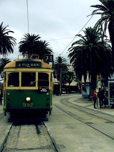 I took this tram to work everyday for months when I was living in Melbourne & working on Fitzroy street. I loved that is was the only non-updated one!