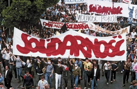 Polish trade union that in the early 1980s became the first independent labour union in a country belonging to the Soviet bloc. Solidarity was founded in September 1980, was forcibly...