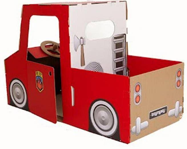 Camión De Bomberos De Cartón Coche De Cartón Juguetes De