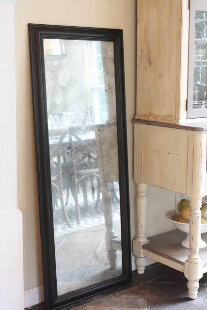Turn A Frame With Glass Into Vintage Mirror Diy Diy And