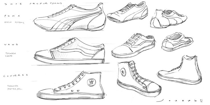 Running Shoe Bottom Line Drawing