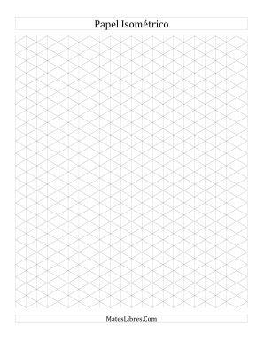Papel Isométrico de 1 cm (Vertical) (Todas)