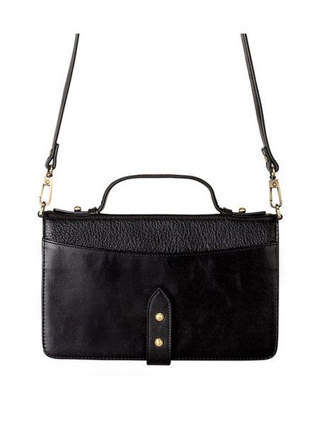 Status Anxiety - The Outlaw Bag - Black - Leather  $199.00
