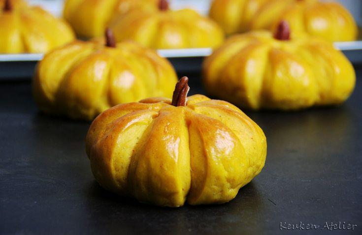 Hartige pompoenbroodjes - Keukenatelier