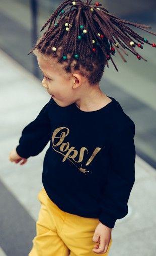 Oops! GOLD sweatshirt! #black #gold #print #kids #streetwear #sweatshirt #chinos #oopswear