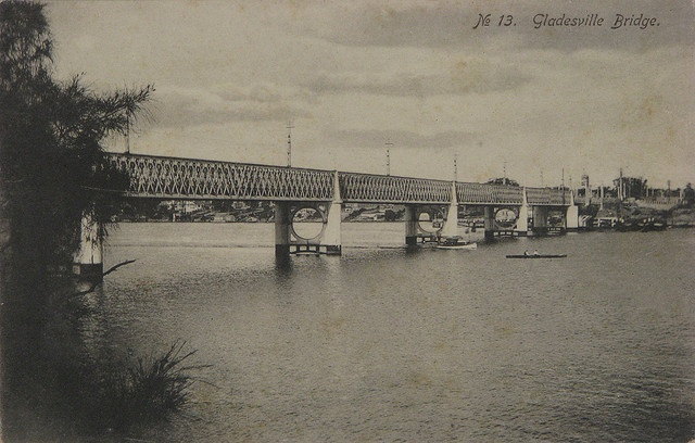 Gladesville Bridge. Published by F. Hollyer, Drummoyne in the early 1900s. It was printed in Germany. Victoria Road, Gladesville NSW. #Gladesville #Bridge #VictoriaRoad #RydeLocal #CityofRyde