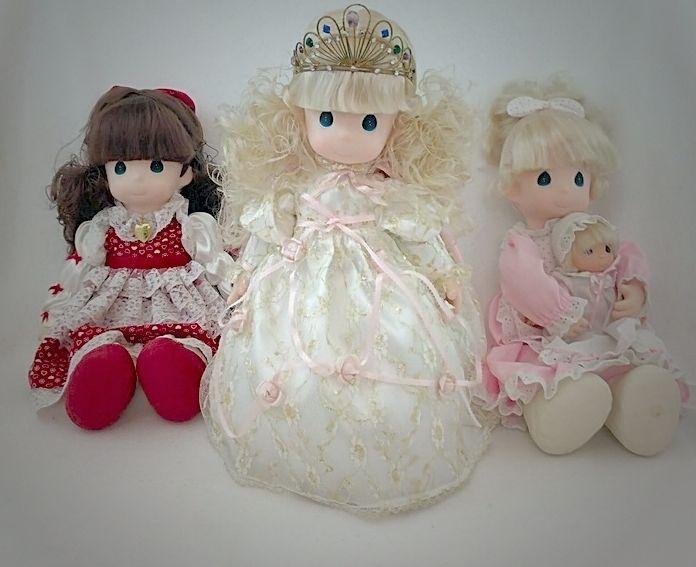 Precious Moments Doll Lot Princess Melody, Mommy I Love U/Lisa & Jessi, Rachel #PreciousMoments