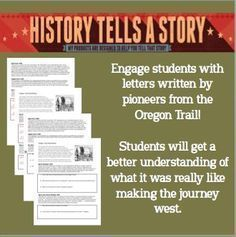 Experience the Oregon Trail through primary source letters written by people who were there.