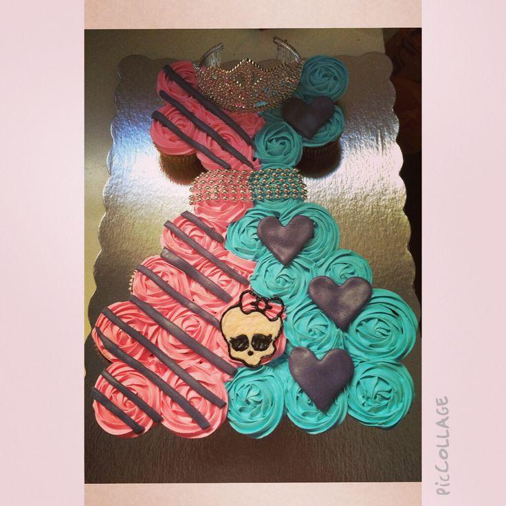 Monster high cupcake cake!