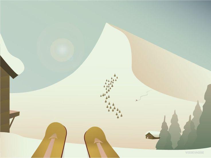 Spænd skiene på, og så afsted. Swoosh… Swoosh… Kan du mærke den ultimative følelse af frihed? Endorfinerne, der spreder sig i kroppen? Køb plakaten hos ViSSEVASSE!