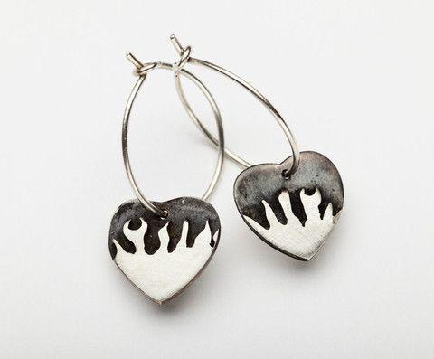 Flaming Hearts Earrings