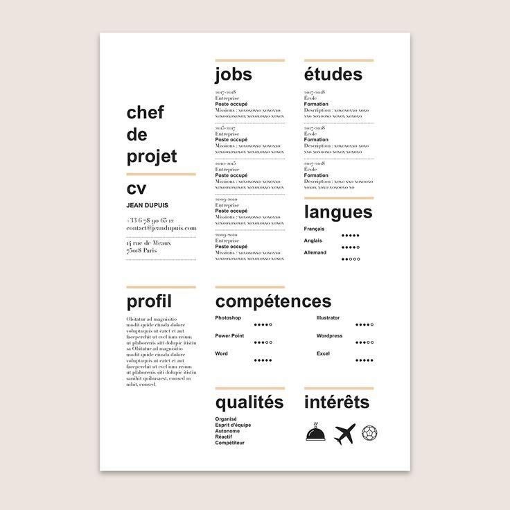 Modele de cv newspaper à télécharger / template resume download