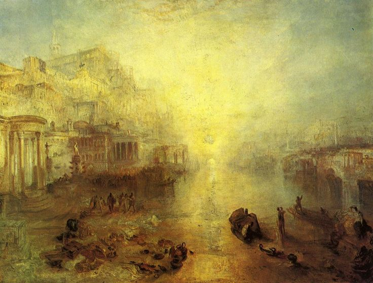 Ancient Italy—Ovid Banished from Rome by Joseph Mallord William Turner   1838  oil on canvas  private collection