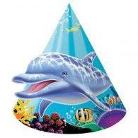 ! Ocean Party Cone Party Hats Pkt8 $8.95 20205325