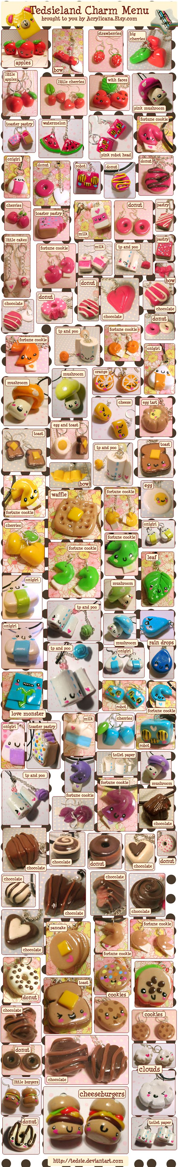 Charm Menu someday I will make these