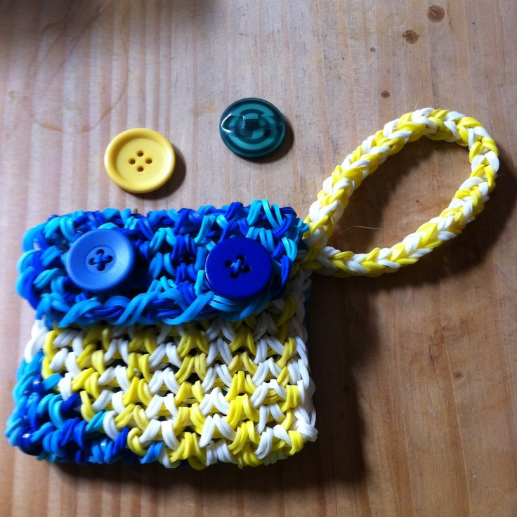 Rainbow loom Change purse!