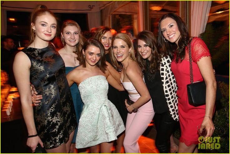 Sophie Turner & Maisie Williams Keep it Cute for EW SAG Bash ...