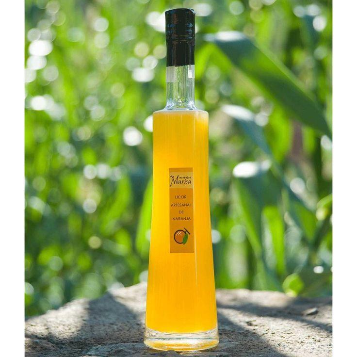 Productos elaborados – Naranjas Marisa. LICOR DE NARANJA 500ml. Productos elaborados 100% naturales y de cosecha propia.