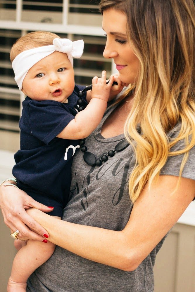 The Best Gifts for Moms to Be - Fashionable Teething Necklace for Mom and Baby - photo featuring Cella Jane