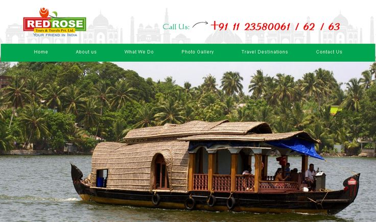 New & latest Website Designed  Work by FSC #India. Red Rose is India #Tour #Operator give best tour packages for India #Tourist #Places.  http://www.redrosetravels.com/