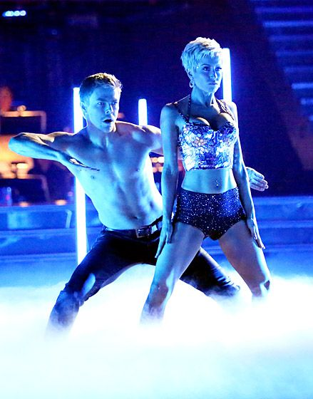 Kellie Pickler  The country singer showed major cleavage in a tiny bra top, while partner Derek Hough went shirtless on Season 16 in 2013