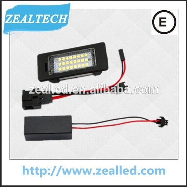 """""""Best selling Auto Lamps 24 SMD Q5 led license plate light for Audi Q5,A4,A5,S5,TT"""""""