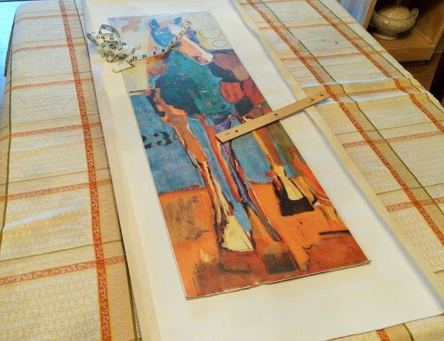 how to turn a printed graphic into a textured tapestry, crafts, decoupage, how to, wall decor