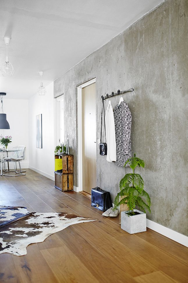 Paredes de cemento. Actualidad nórdica y paredes frias | Decorar tu casa es facilisimo.com