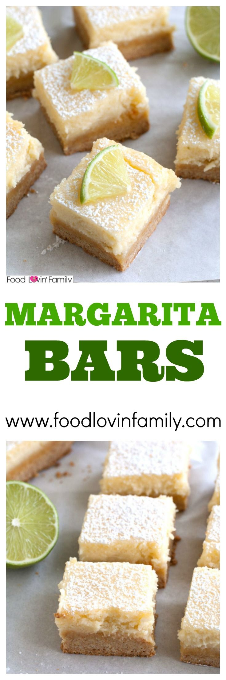 Margarita Bars are a delicious take on ooey gooey butter cake bars. Deliciously creamy with a hint of refreshing lime. Great for summer party or summer dessert.