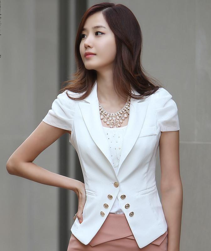 1315b02d097 Fashion Formal Women Blazer Jacket 2013 Summer for Office Ladies Career  Business Slim Work Wear White Plus size  33.40