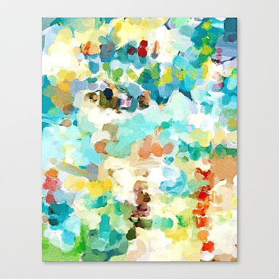 Staccato  This made to order canvas print is based upon my original abstract watercolor art of the same title. Available canvas art sizes in inches: - 13x16 - 18x22 - 24x30  This modern painting canvas print will be printed with Epson OEM archival inks on white, matte, archival quality 21 mil poly-cotton canvas. The high quality inks and pH balanced canvas will ensure the longevity of your watercolor wall art. Each watercolor art print is hand trimmed, stretched over 1.5 deep kiln-dried fir…