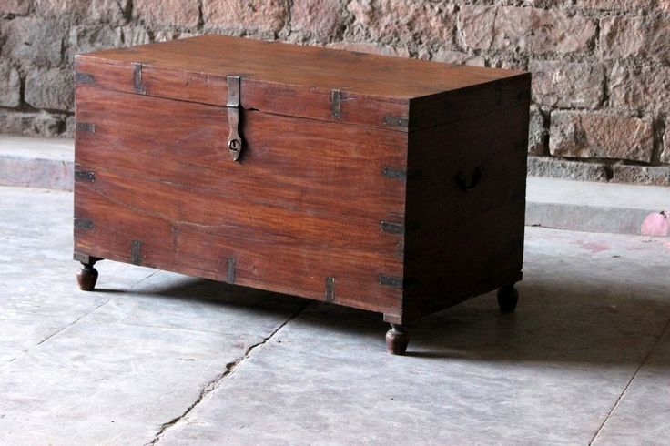 Irra Wooden and Steel Frame Trunk Box