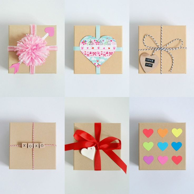 Valentine's Day gift wrap ideas for a simple Kraft Paper Box