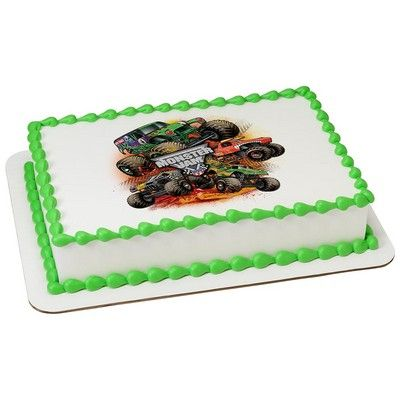 Monster Jam Grave Digger Personalized Edible Icing Party Supplies Canada - Open A Party